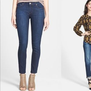 Paige Skyline Ankle Peg Skinny Jeans in Dixie Wash